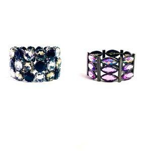 Jewelry - Two Big Jeweled Bracelets